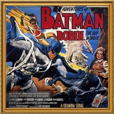 Batman and Robin, 1949, Robert Lowery, Movie Poster Painting, Oil on Canvas