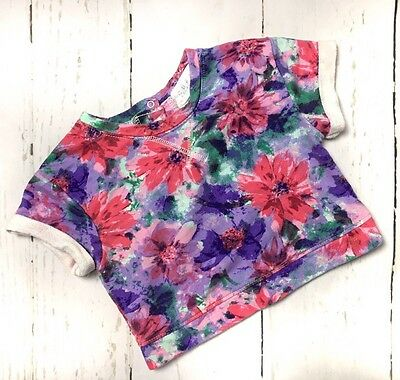 Guess Toddler Girls Floral Top Size 3T EUC Purple Pink Green Cotton
