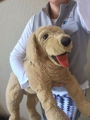 "IKEA Gosig Lifelike Golden Retriever Plush Large Puppy Dog 27"" Stuffed Animal"