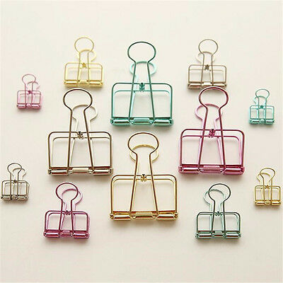 Multi-size Colorful Hollow Out Metal Binder Clips Notes Letter Paper Clip Office