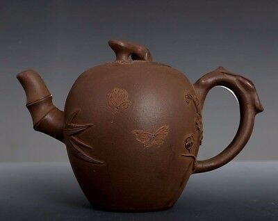 Special Old Chinese Yixing Zisha Teapot Hand Carving Purple sand Teapots PT214