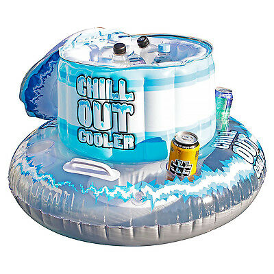 Floating Cooler W/4 Drink Holders+1 Repair Patch 81X35Cm