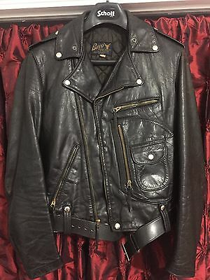BUCO J-24 Cafe Racer Steerhide Leather Motorcycle Jacket Size 38 Vintage 1950s!