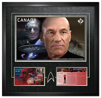 Star Trek  Framed Print: Captain Picard ONLY 600 pieces Produced!