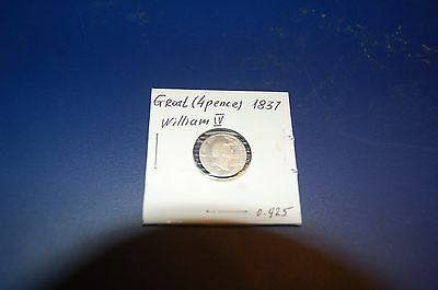 GREAT BRITAIN SILVER GROAT ( 4 pence) 1837 WILLIAM IV