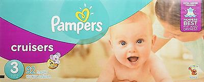 Pampers Cruisers Diapers Size 3 Super Pack, 92 Count Packaging May Vary
