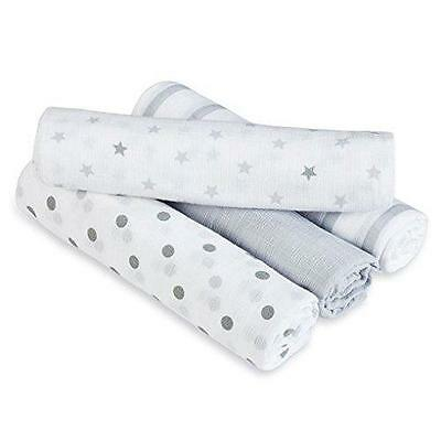 aden anais Swaddles 4 Pack, Dove