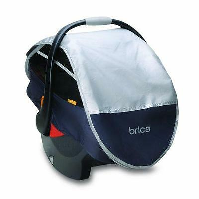 Munchkin BRICA Infant Comfort Canopy Car Seat Cover, Grey