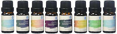 Pursonic 100 Pure Essential Aromatherapy Oil Blends Gift Set 8 Pack, 10ml,...