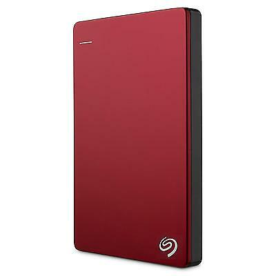Seagate Backup Plus Slim 2TB Portable External Hard Drive USB 3.0, Red...