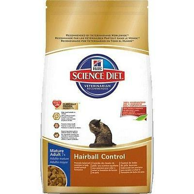 Hill s Science Diet Mature Adult Cat 7 Hairball Control Formula Dry Food...