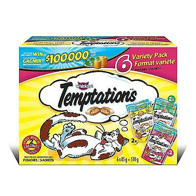 Temptations Variety Pack Treats for Cats, 6 by 85g