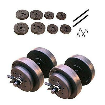 Cap Barbell 40 Pounds Cement Dumbbell Set Black