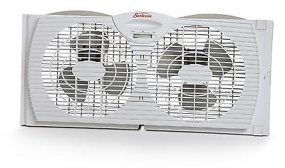 Sunbeam Dual Blade Twin Window Fan, White