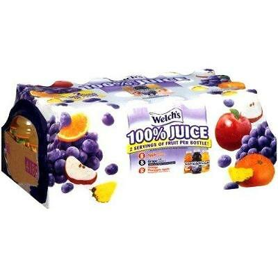 Welch s 100 Percent Juice Variety Pack 10 Ounce Bottles, 24 Count