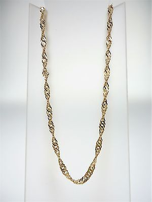 9Ct Yellow Gold Ladies Singapore Twist Necklace 50Cm 4.0G