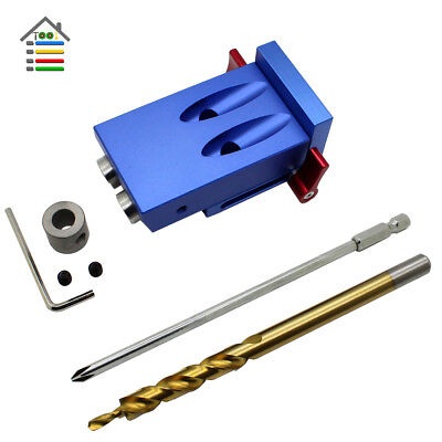 Pocket Hole Drill Jig Round Doweling Wood Joinery Tenon Locator Woodworking Tool