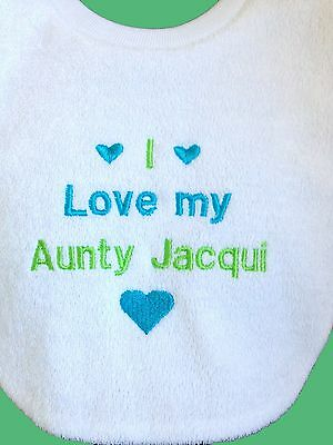 Personalised Baby Bib  Custom Message Bib -  Baby Gift Made To Order