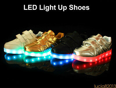 2017 NEW LED Luminous Shoes Light Up Casual Sneakers Sole Glowing Kids Shoes