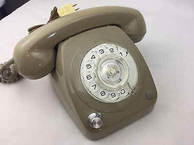 Rotary Corded Home Phone - Telephone - Vintage - With Volume Control - Old Style