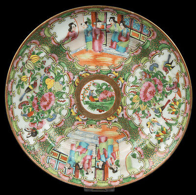 China 19. Jh. Teller -A Chinese Canton Famille Rose Plate - Cinese Chinois Chino