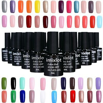 imixlot@ Vernis à Ongles Gel Polish Nails UV LED Semi Permanent Manucure 8 ML