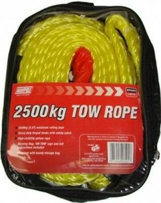 Maypole Tow Rope with Forged Hooks Heavy Duty 4M X 2500Kg | Towing Trailer