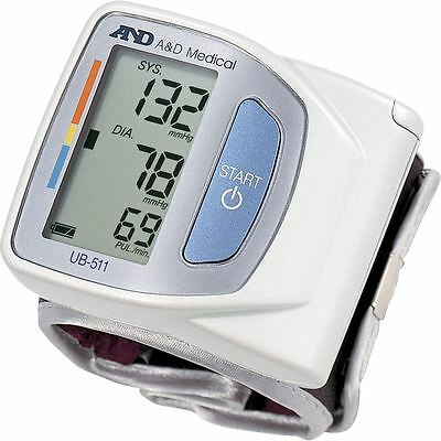 A&D Medical Advanced Compact Wrist Digital Heart Blood Pressure Monitor - UB-511