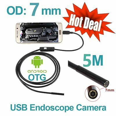 7mm 6 LED Android Phone Endoscope IP67 Inspection Borescope HD Camera video AUmy