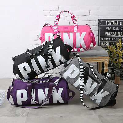 Women Victoria's PINK Travel Bags VS Beach Bag Portable Sports Gym Duffel Bag