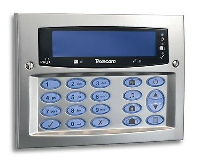 Texecom Premier Flush FMK Satin Chrome Alarm Security Keypad DBD-0123 Grade 3