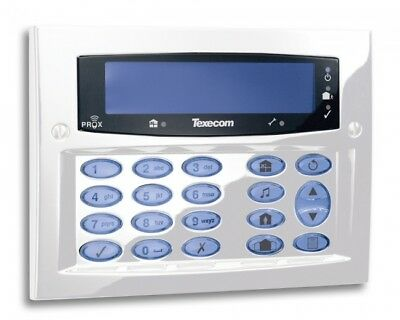 Texecom Premier Flush FMK Diamond White Alarm Security Keypad DBD-0170 Grade3