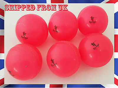 Cricket Wind Balls Pink Youth Adult Indoor Outdoor Hard Present (Pack of 6)