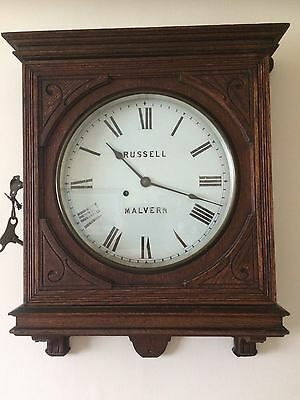 Antique Ansonia Oak 8 day wall clock working order 47 x 57 x 12.5 Centimetres
