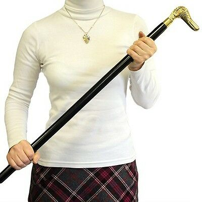 Elegant Solid Wood and Brass Head  Walking Sticks/Cane