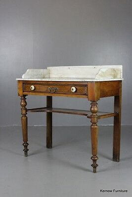 Antique Marble Top French Marble Washstand