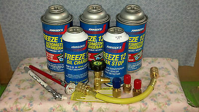 Freeze 12, R-12, R12 Replacement, Non-Flammable & No Cfc's, Recharge Kit