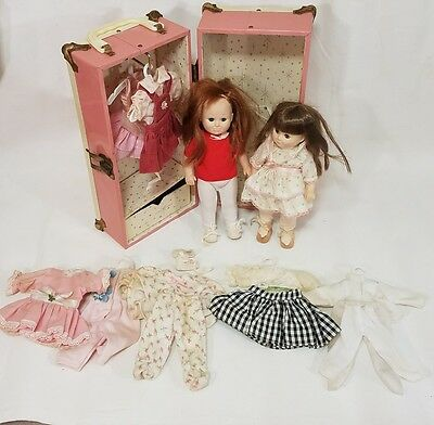 1990's Jesco Katie dolls with Wardrobe and misc outfits Vinatage.