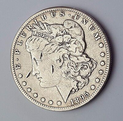 U.s.a - Dated 1895 - Silver - Morgan - $1 One Dollar Coin - American Silver Coin