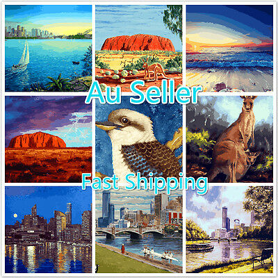 Acrylic Painting by Number Kit Canvas 40*50CM A16T38 AU STOCK HOME DECOR DIY