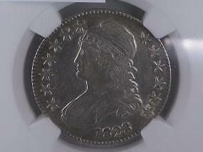 1828 Capped Bust Half Dollar.  NGC Certified VF30, Problem Free. Nice Eye Appeal