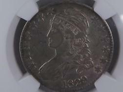 1829 Capped Bust Half Dollar.  NGC Certified Problem Free, AU50. Nice Type Coin.