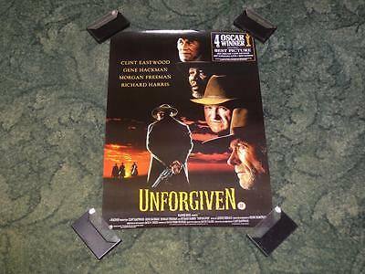 Original Video Store Promo Movie Poster ~ Unforgiven ~ Clint Eastwood