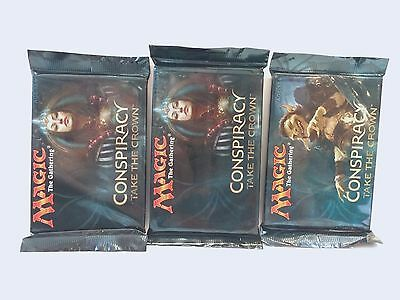 Magic the Gathering MTG Conspiracy Take the Crown 3x Sealed Booster Packs