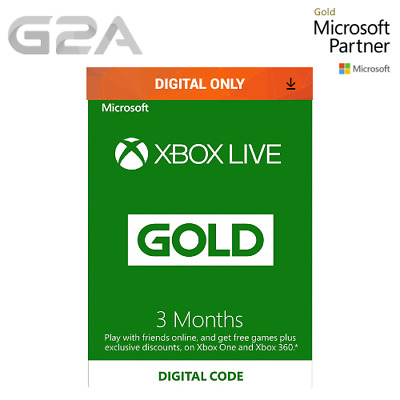 Xbox Live 3 Month Gold Membership Code for Microsoft Xbox 360 / XBOX ONE Key CA