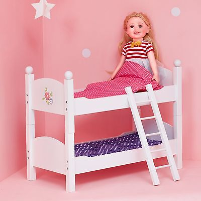 Olivia's Little World Baby Doll Furniture Double Bunk Bed by Teamson Kids
