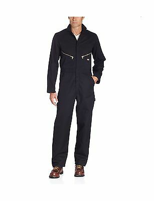 Dickies Men's 7 1/2 Ounce Twill Deluxe Long Sleeve Coverall Black Long/Regular