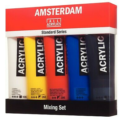 Amsterdam Standard Series Acrylic Art & Craft Paint 5 x 120ml Colour Mixing Set