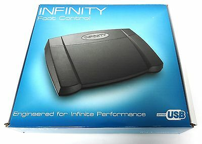 NEW IN BOX Infinity IN-USB-2 Transcription Foot Control Pedal