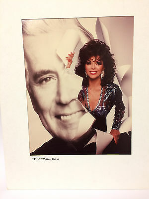 "JOAN COLLINS - RARE ORIGINAL 11"" x 14"" TV Photograph Mounted by TV Guide 1989"